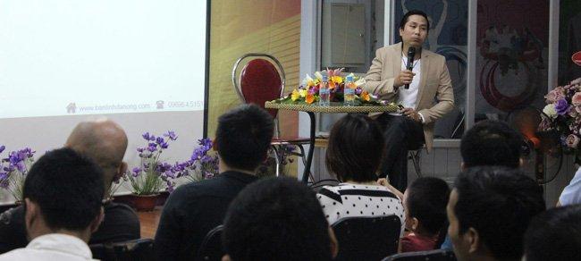 """Nguyễn Bá Toàn diễn giả chính hội thảo """"Đánh Thức Bản Lĩnh Đàn Ông"""""""