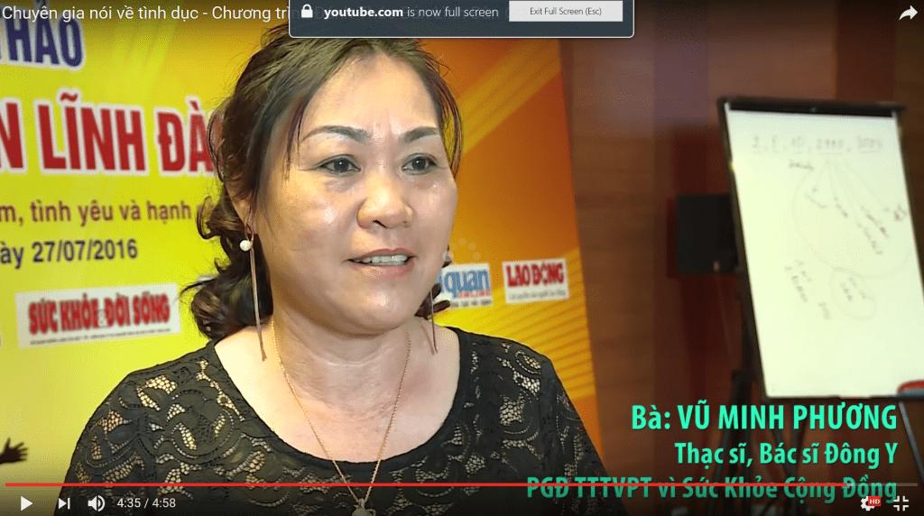 Bác sĩ Vũ Minh Phương hiện là Phó giám đốc chuyên môn của Trung tâm ODC - NBT