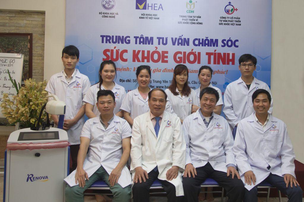 Đội ngũ cán bộ, chuyên gia, bác sĩ hết mực yêu nghề của trung tâm tư vấn chăm sóc sức khỏe giới tính