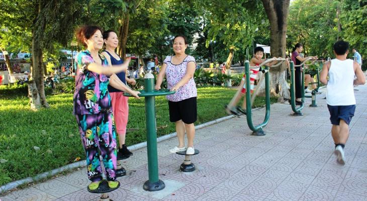 Tập thể dục nâng cao sức khỏe