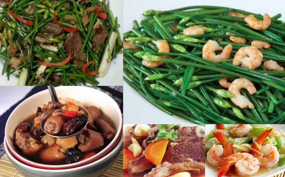 một số món ăn giúp tăng cường bản lĩnh phái manh