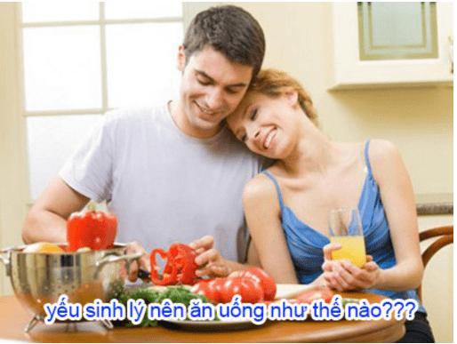 thực phẩm nên ăn khi bị yếu sinh lý