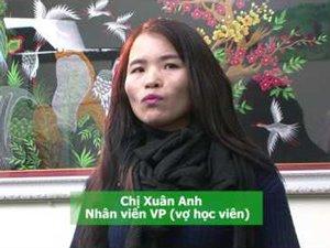 Chị Xuân Anh (vợ học viên NBT) chia sẻ