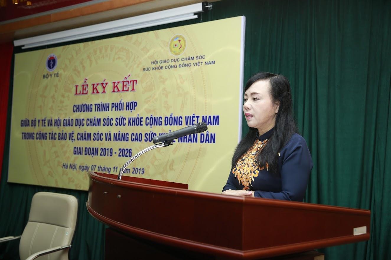 Bộ trưởng Nguyễn Thị Kim Tiến phát biểu tại buổi lễ